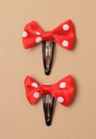 Red and white large bow sleepies (Code 1818)